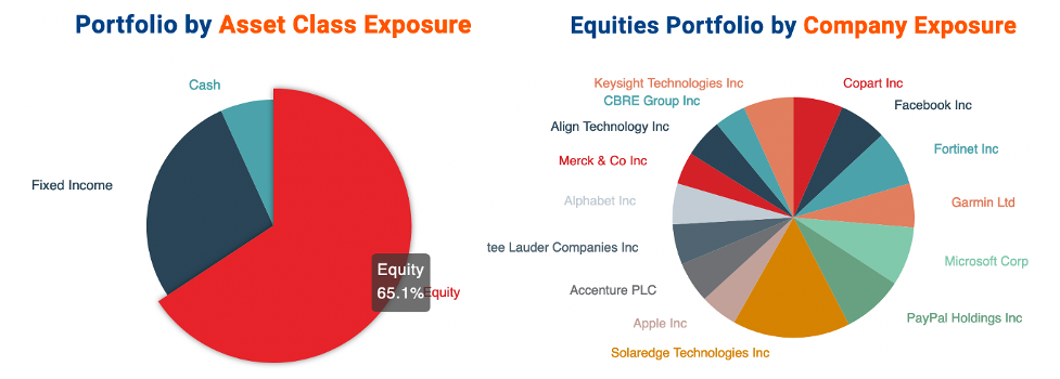 Portfolio diversification by company and sector
