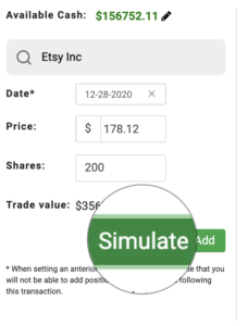 available cash simulate